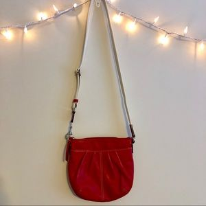 Coach | Red Leather Crossbody Purse